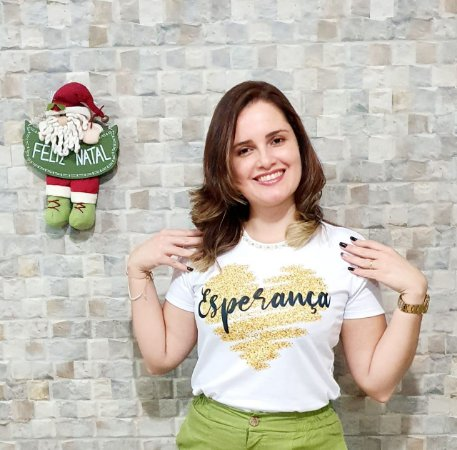 T-shirt Esperança - Feminina Adulto