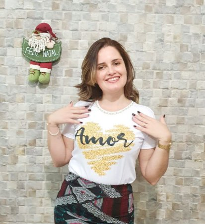 T-shirt Amor - Feminina Adulto