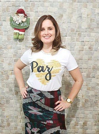 T-shirt Paz - Feminina Adulto