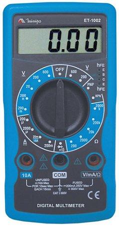 ET-1002 MULTIMETRO DIGITAL 3 ½  DIGITOS 10A Cat. I 600V Minipa