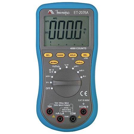 ET-2076A MULTIMETRO DIGITAL 3 3/4D/AUTO POWER OFF/DATA Minipa