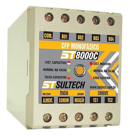 ST8000C/TR - CONTROLADOR DE FATOR DE POTÊNCIA - MONOFASICO - TRILHO - 04 SAIDAS Sultech