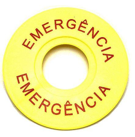 PLAQUETA DE EMERGÊNCIA 22,5mm Jng BL03