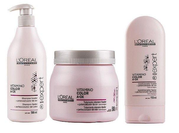 Loreal Professionnel Vitamino Color AOX Kit (3 Produtos + Brinde)