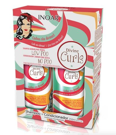 Inoar Divine Curls Shampoo e Condicionador Kit 2x250ml