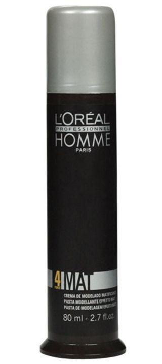 Loreal Homme Mat Force 4 - Pomada Pasta Efeito Matte 80ml