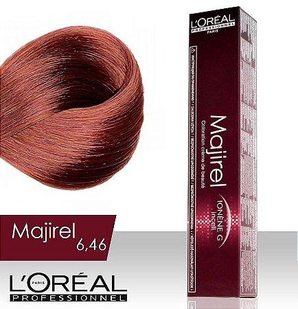 Tintura Loreal Majirel 6.46 Louro Escuro Acobreado Vermelho