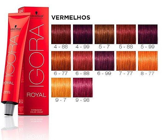 Schwarzkopf Tintura Igora Royal 6-88 Louro Escuro Vermelho Extra