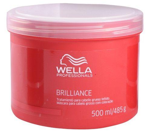 Wella Professionals Brilliance - Máscara  Coloridos 500ml
