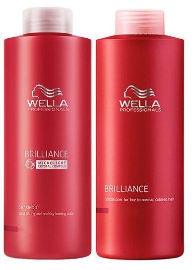 Wella Brilliance Kit Duo p/ Coloridos - 2 x 1 Litro