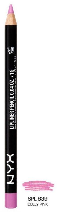 NYX Lápis Boca SPL839 Slim Lip Pencil - Dolly Pink