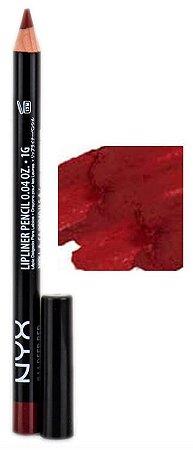 NYX Lápis Boca SPL844 Slim Lip Pencil - Deep Red