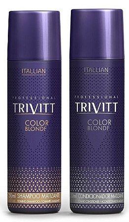 Itallian Trivitt Color Blonde Kit Matizador Shampoo + Condic. 250ml