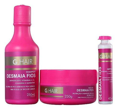 Inoar Ghair Kit Desmaia Fios Shampoo, Máscara e Ampola