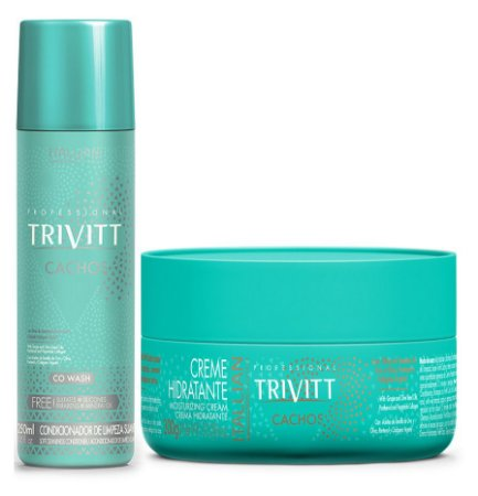 Itallian Trivitt Kit Cachos Co Wash + Creme Hidratante 300g