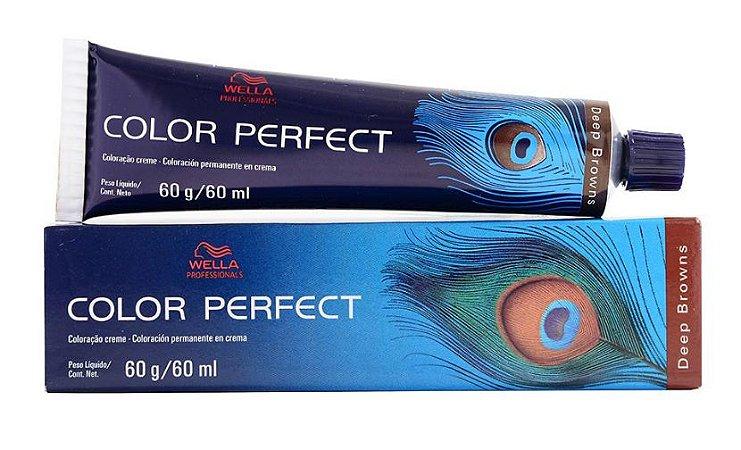 Tintura Wella Color Perfect 6/77 Louro Escuro Marrom Intenso - 60g