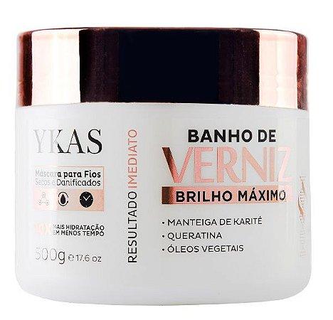 Ykas Banho de Verniz Máscara Brilho Máximo 500g
