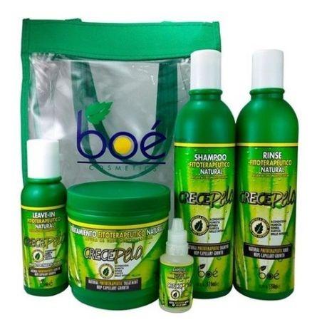 Boé Kit Crece Pelo Completo c/ Bolsa + Ampola (5 itens)