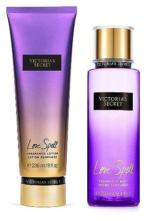 Victorias Secret Kit Hidratante + Splash Love Spell 250ml