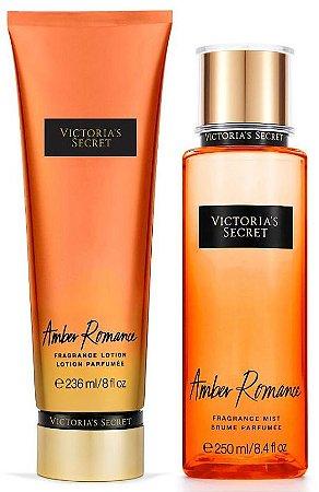 Victorias Secret Kit Hidratante + Splash Amber Romance