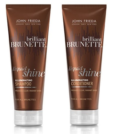 John Frieda Shampoo e Condicionador Brunette Liquid Shine Brilliant Kit
