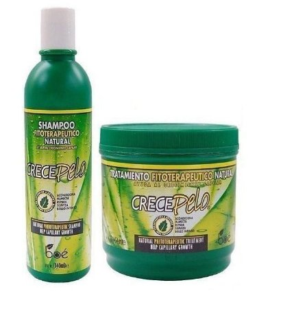 Boé Crece Pelo Kit Shampoo + Mascara 454g Média