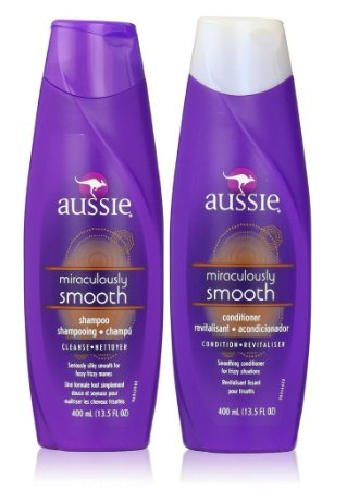 Aussie Smooth Shampoo e Condicionador Anti Frizz 400ml