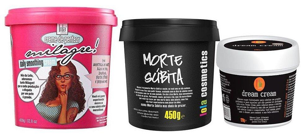 Lola Kit Completo Milagre + Morte Subita + Dream Cream 120g (+ Brinde)