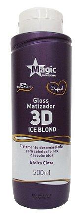 Magic Color Matizador Gloss 3D Ice Blond - Efeito Cinza (+ Brinde)