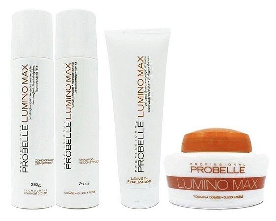 Probelle Lumino Max Kit p/ Raiz Oleosa e Pontas secas - 4 itens
