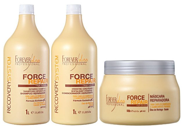 Forever Liss Force Repair Kit Grande Profissional Litro (3pc)