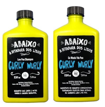 Lola Curly Wurly Shampoo Low Poo 230ml + Co Wash / No Poo 230ml