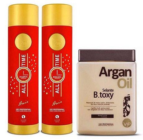 Progressiva Zap Professional + Beuatox VIP Argan Kit 3pc (+ Brinde)