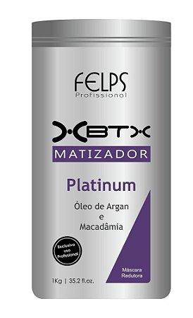 Felps B.tox Capilar Matizador Platinum Argan e Macadâmia - 1Kg