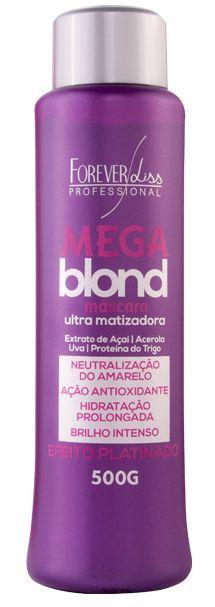 Matizador Forever Liss Mega Blond Ultra Platinado - 500gr