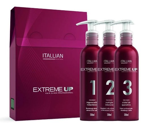 Itallian Hair SOS Extreme Up Reconstrução Kit 3 Produtos (+ Brinde)