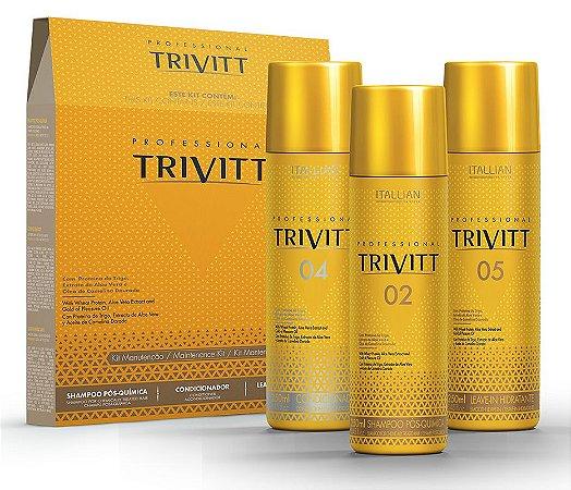 Itallian Trivitt Kit Manutenção Pós Química (3 Produtos)