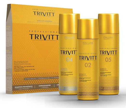 Itallian Trivitt Kit Manutenção Pós Química (3 Produtos) +brinde