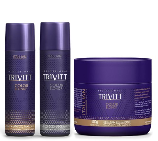 Itallian Trivitt Color Blonde Kit Matizador 250ml (3pc) +Brinde