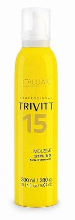 Itallian Trivitt 15 Mousse Styling Forte c/ Filtro Solar - 300 Ml