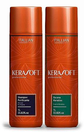 Itallian Hair Kerasoft Progressiva Keraliss Sem Formol - Kit 2x1L