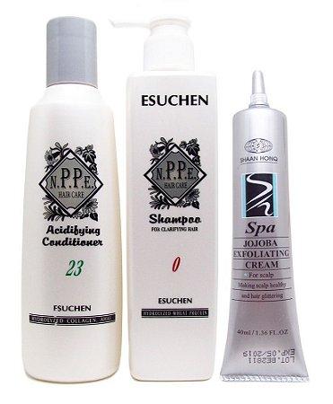 Nppe Kit Anti Oleosidade e Caspa  (Shampoo N0 + Cond N23 + Esfoliante)