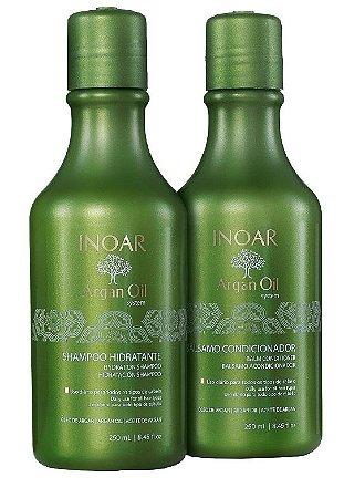 Inoar Argan Oil Shampoo e Condicionador Kit Duo ( 2x250ml + Brinde)