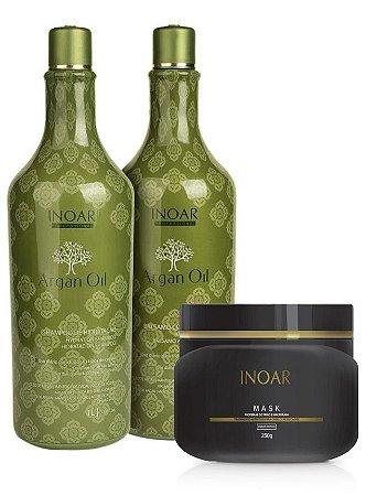 Inoar Kit Argan Oil 1 Litro + Mascara Macadâmia Mask (+ Brinde)