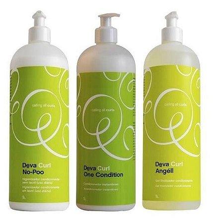 Deva Curl Kit 3 x Litro No Poo + One + Angell