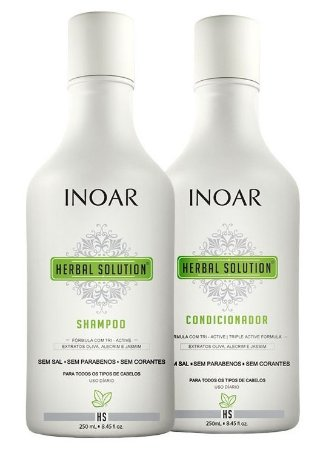 Inoar Herbal Shampoo Sem Sal + Condic. Kit Duo (2x250ml + Brinde)