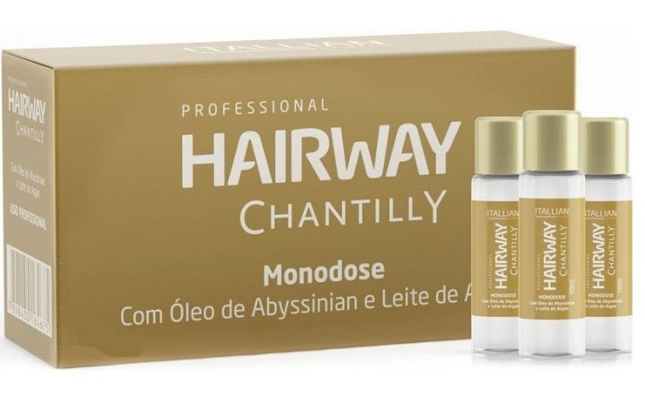 Itallian Hairway Chantilly Ampola Monodose (12 Unidades)