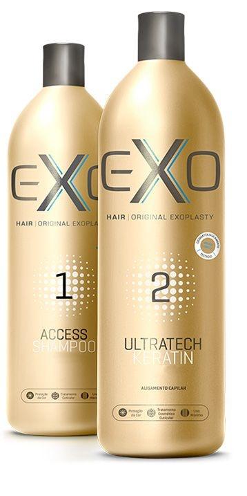 Exo Hair Exoplastia Progressiva Kit Alisamento Sem Formol (2x500ml)