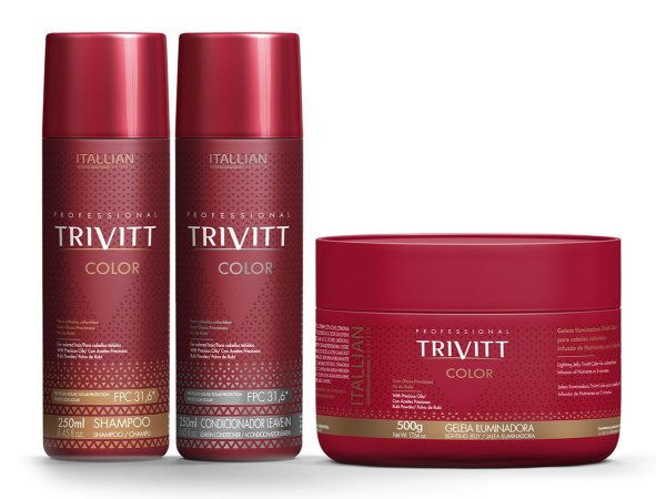 Itallian Trivitt Color Kit 250ml + Geléia Iluminadora 500g