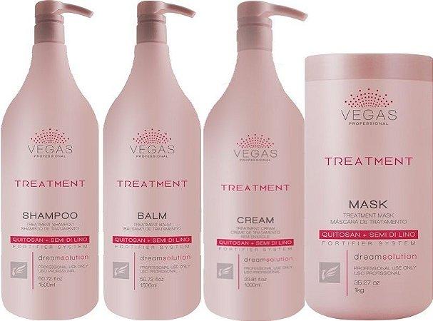 Vegas Tratamento Profissional Reconstrutor Hidratante - Kit 4 Passos